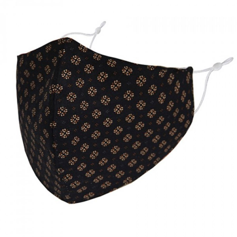 Gold shapes pattern fabric fashion face mask/covering