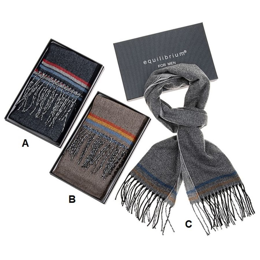 Mens Modern Stripes Pattern Scarf