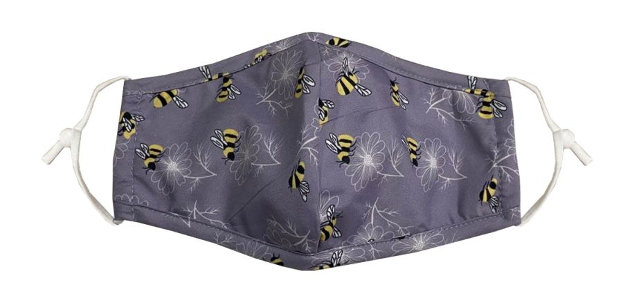 Mask- Busy Bees- with filter pocket