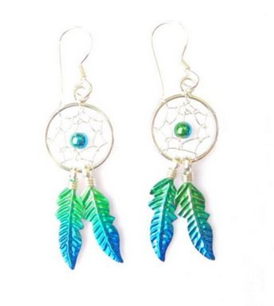 925 Silver Dreamcatcher Earrings