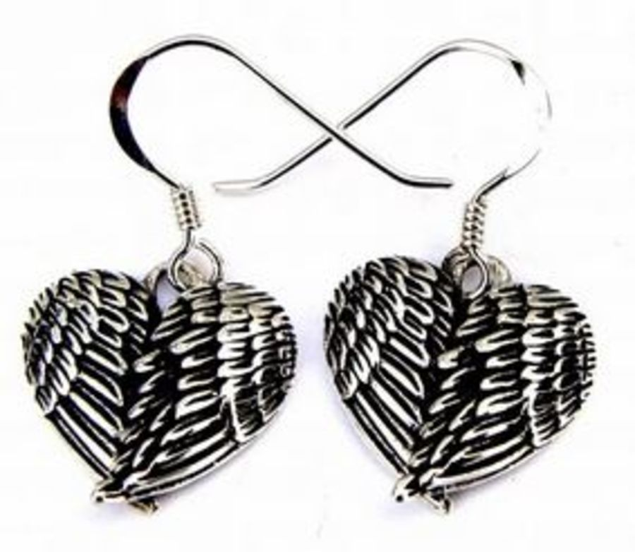 925 Silver Angel Wings Earrings