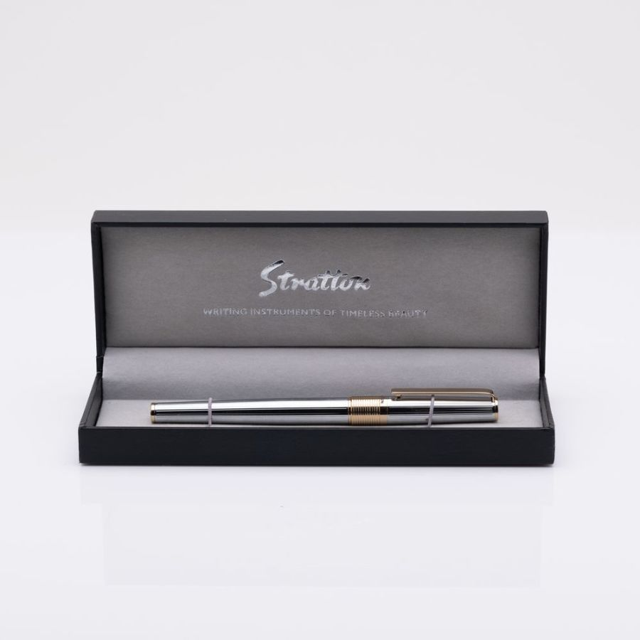 Stratton Roller Ball Pen - Silver & Gold