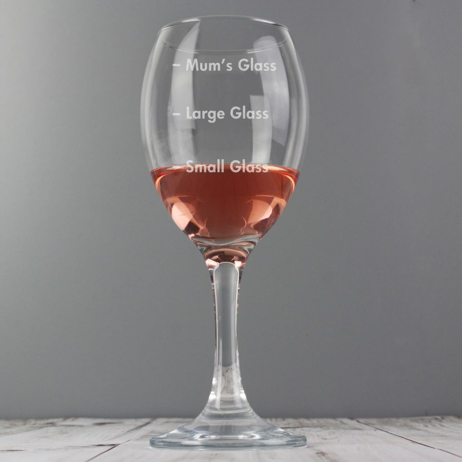 Personalised Measures Wine Glass