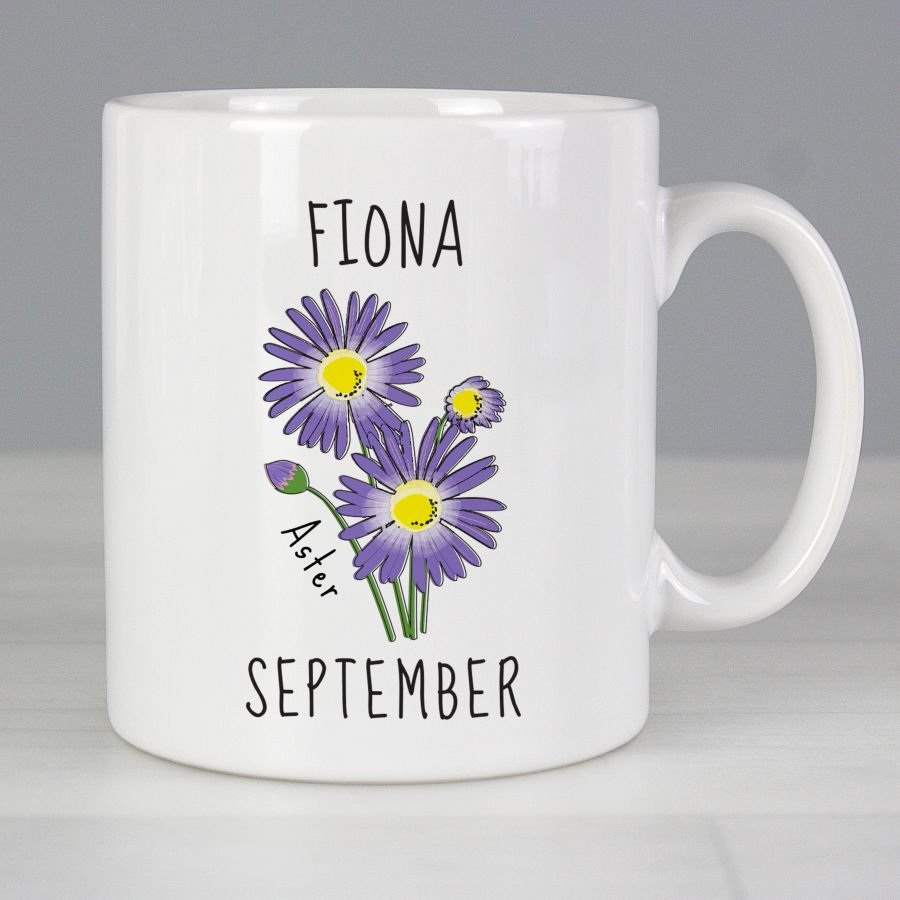 September Birth Flower - Aster Mug