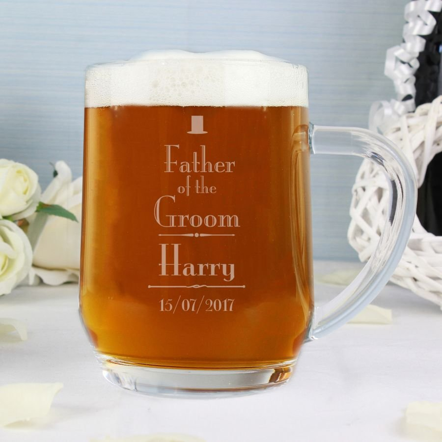 Personalised Decorative Wedding Father of the Groom Tankard