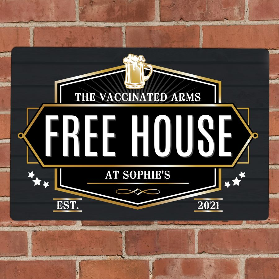 Personalised Free House Metal Sign