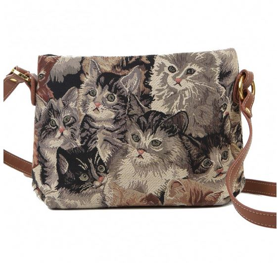 Cat Design Cross Body Bag by Signare