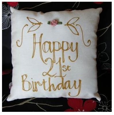21st Birthday Pillow