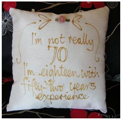 70th Birthday Pillow