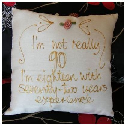 90th Birthday Pillow