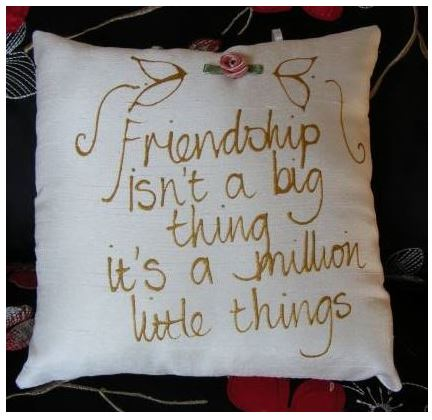 Friendship isn`t a big thing...