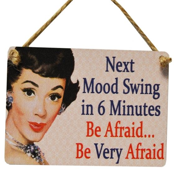 Mini Metal Sign - Next Mood Swing