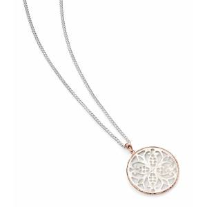 Silver & Rose Gold Mother of Pearl Pendant