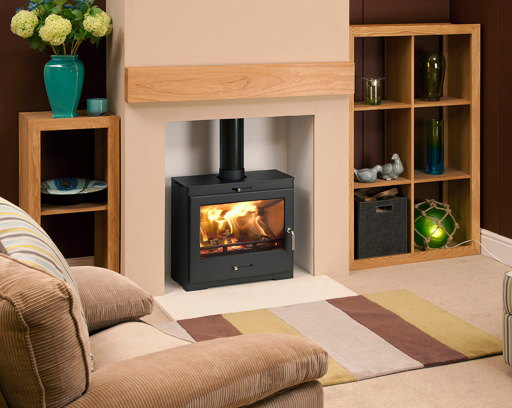 Bohemia X40 Cube 5.5 kw Eco-design 2022  Multi Fuel Stove Extra Wide