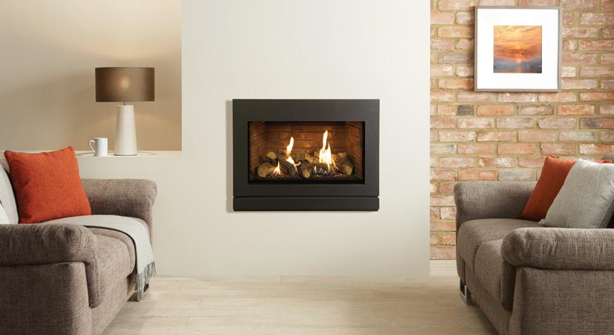 Gazco Riva2 670 5kW Designio2 Steel Gas Fire