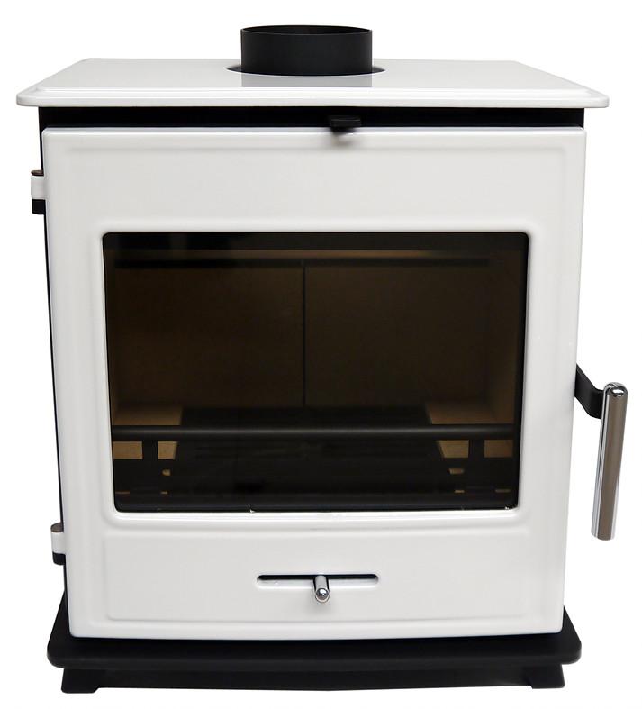Bucklesham 40FS White Enamel 4.5kw Multi-fuel Stove
