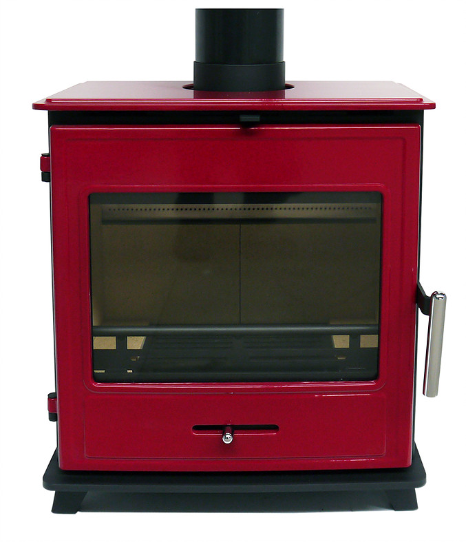 Bucklesham 40FS Red Enamel 4.5kw Multi-fuel Stove