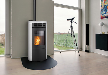 Heta Scan-Line Green 200 Series Pellet Stove Complete with Ceramic