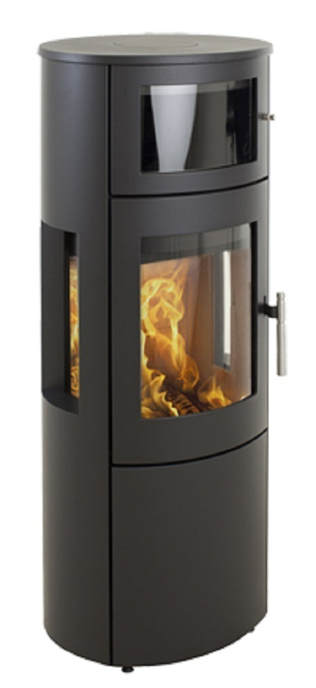 Heta Scan-Line 820B Wood Stove with Baking Oven & Side Windows