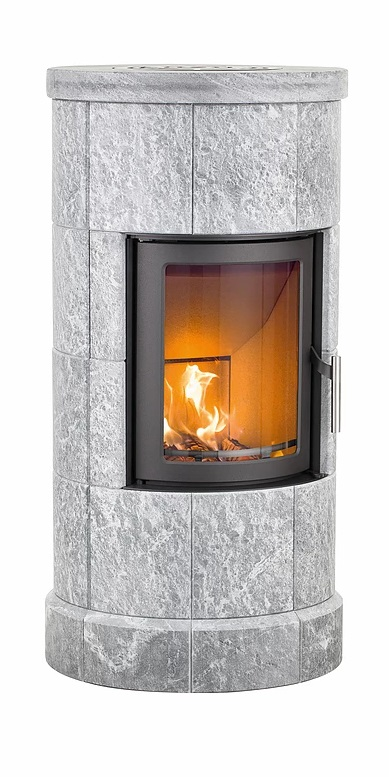 Heta Scan-Line 10 5kW Thermal-Mass Wood Burning Stove with Four Sections of Soapstone