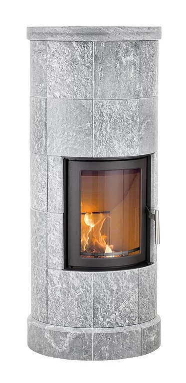 Heta Scan-Line 20 5kw Thermal-Mass Wood Burning Stove with Five Sections of Soapstone