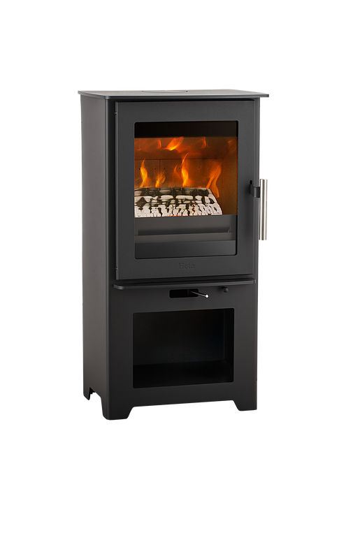 Heta Inspire 40 4.9kW  Multifuel Stove with Log Store