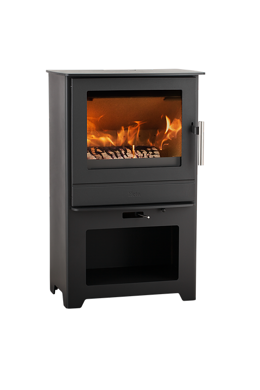 Heta Inspire 45 4 9kw Wood Burning Stove With Log Store
