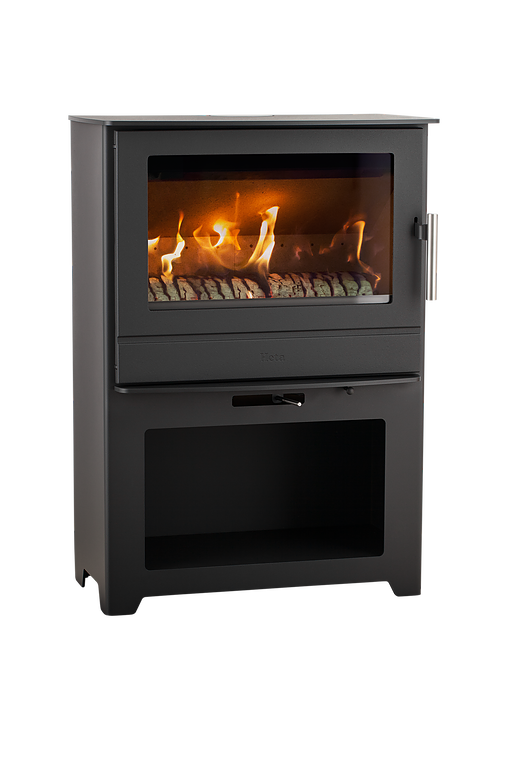 Heta Inspire 55 6.3kW Multifuel Stove with Log Store