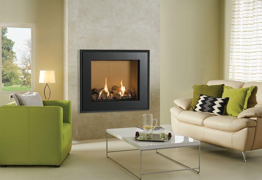 Gazco Riva2 750HL Evoke Steel Gas Fire