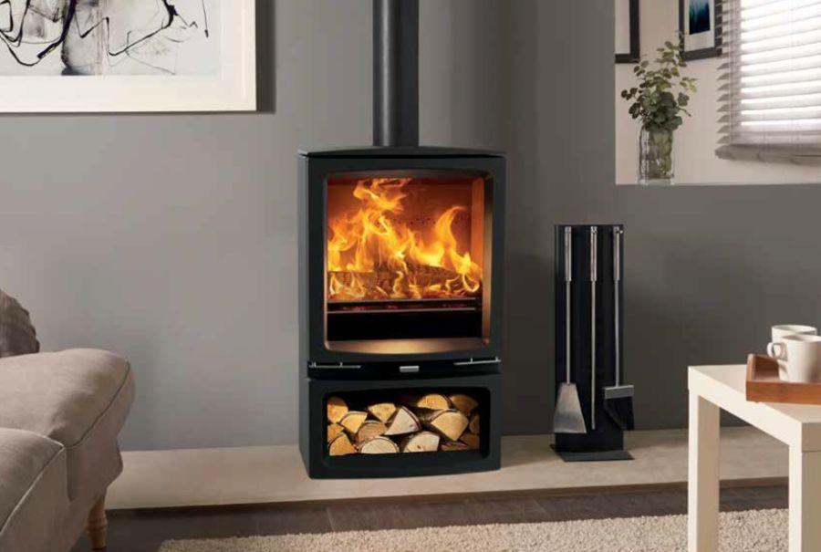 Vogue Medium Slimline 5kW Woodburning & Multifuel Stove