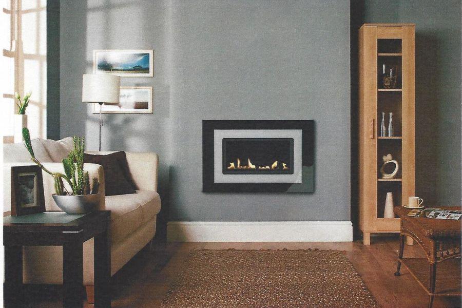 Burley Latitude 4500 Flueless Gas Fire with Mirage Glass Trim