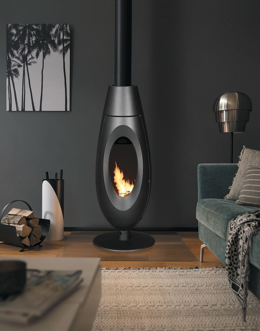 Invicta Ovatio Ecodesign 2022 Ready 5kw Cast Iron Wood Stove
