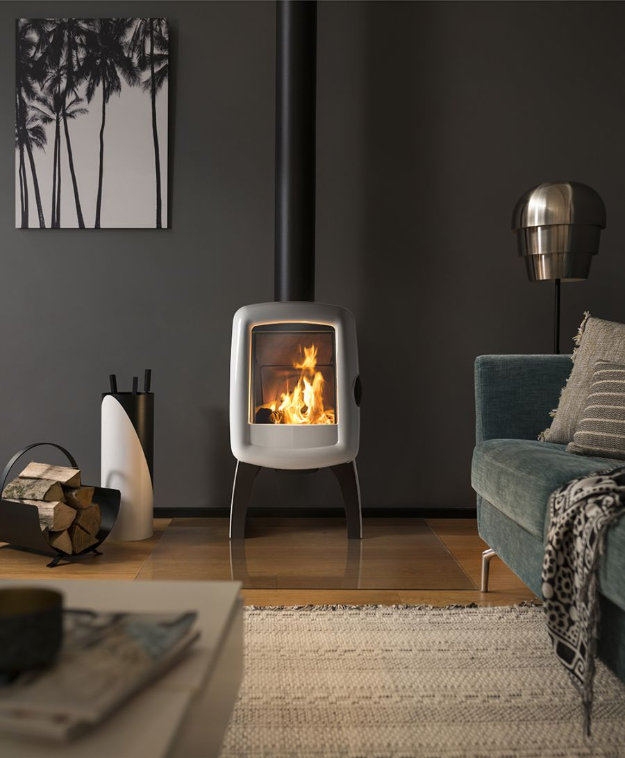 Invicta Elo M White 5KW Ecodesign 2022 Cast Iron Wood Stove