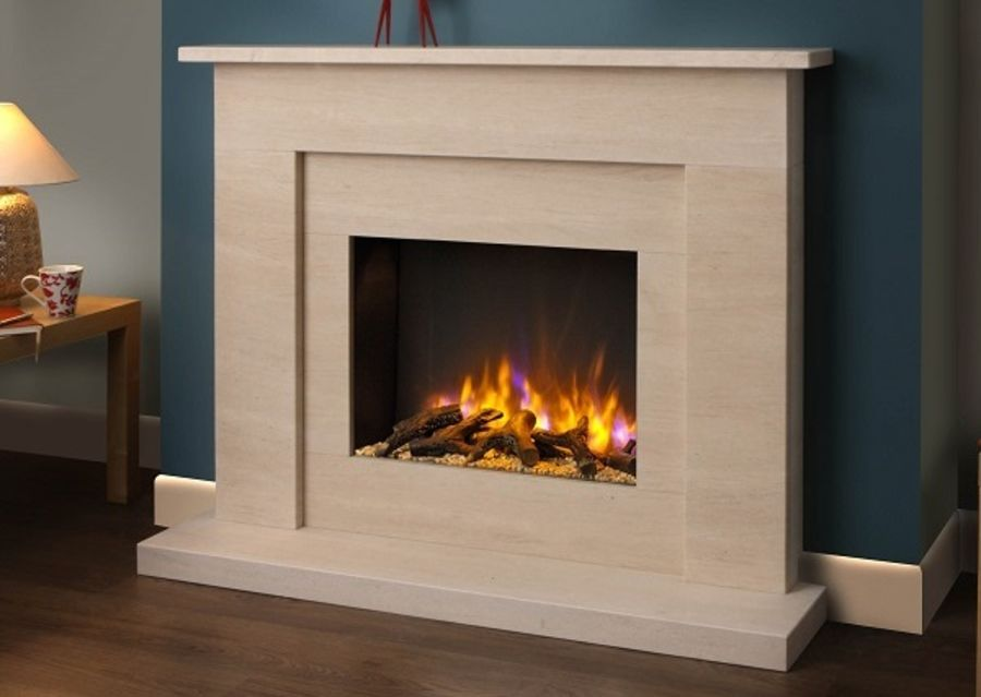 The Solstice Electric Fire complete with Beckford 48