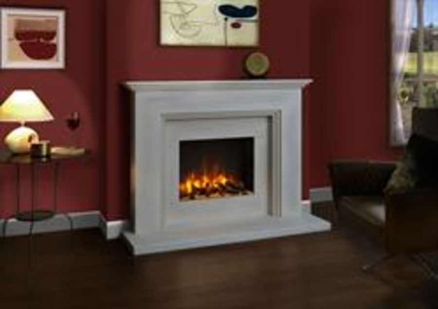 Ludlow Fireplace Suite complete with Solstice Electric Fire