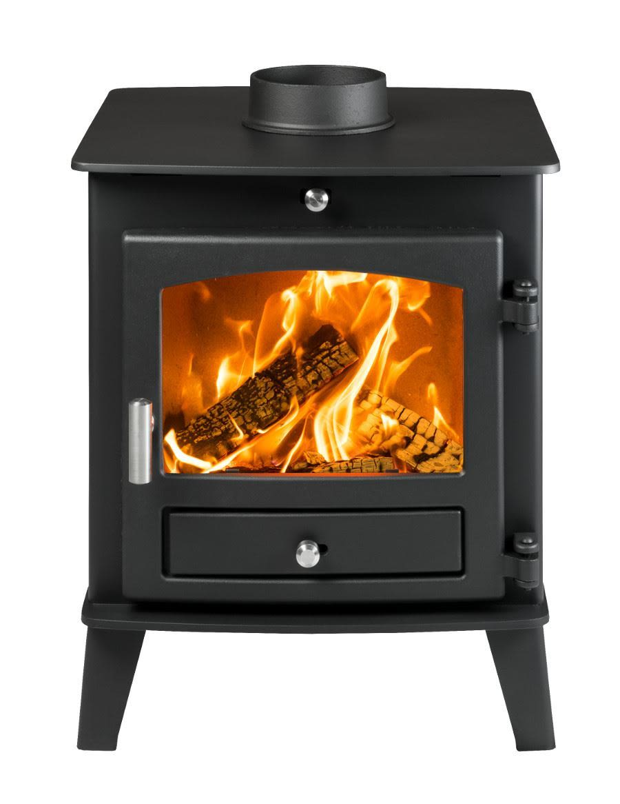 Hunter Avalon 4 Double Sided Single Depth Woodburning & Multifuel Stove