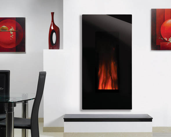 Studio 22 Glass Electric Wall Mounted Fire