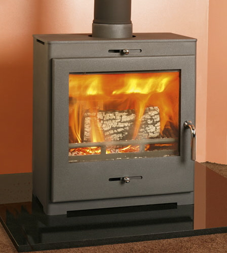 Bohemia X40 Cube 4kW Multifuel Stove/log store options