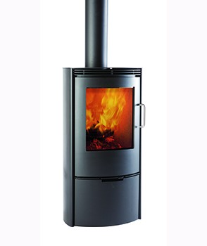 TermaTech TT10 6kw Woodburning Stove with Rounded Steel Sides