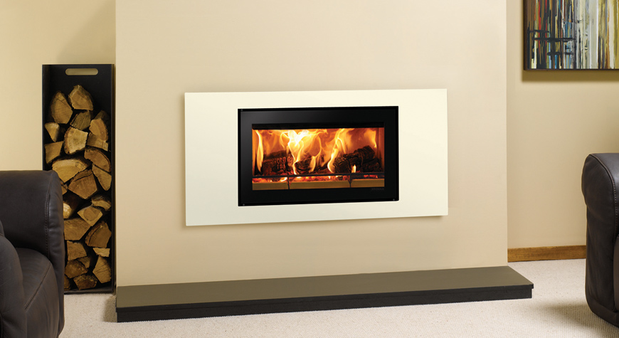 Riva Studio Steel Inset Woodburning Fire
