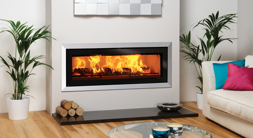 Riva Studio Bauhaus Inset Woodburning Fire