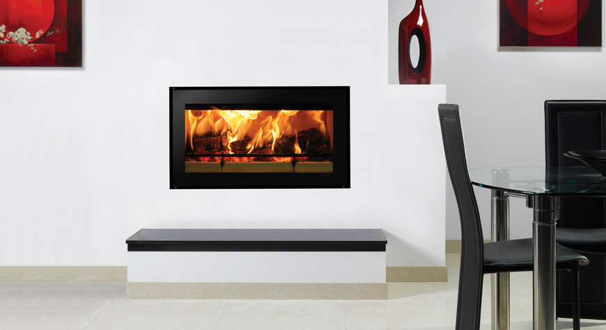 Riva Studio Edge Inset Woodburning Fire