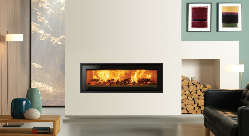 Riva Studio Edge + Inset Woodburning Stove