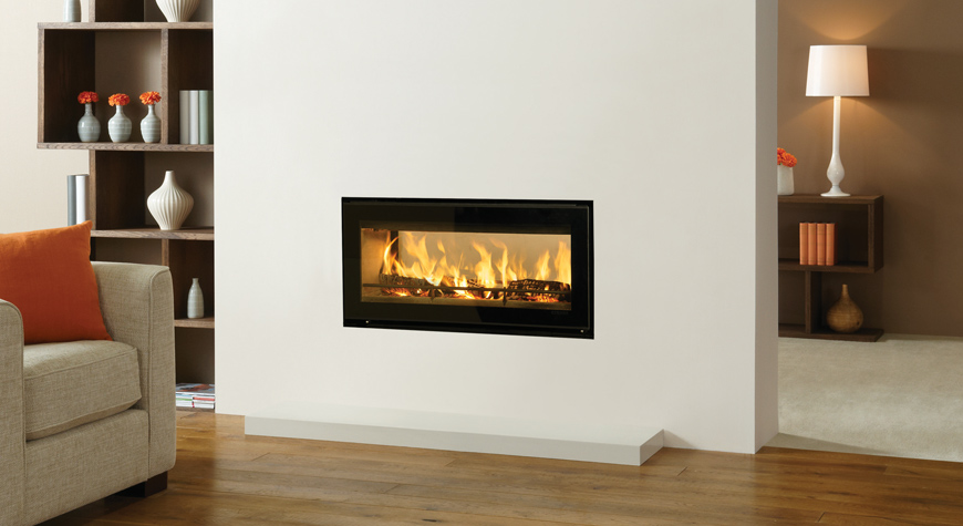 Riva Studio Duplex Inset Woodburning Fire