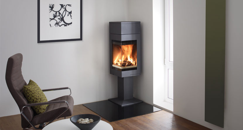 Nordpeis Quadro 1T 6.2kW Ecodesign Ready 2022 Woodburning Stove