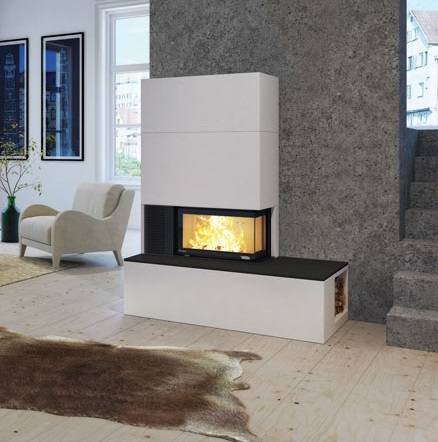 Nordpeis Q-34 Panama 6kW Woodburning Cassette Fire