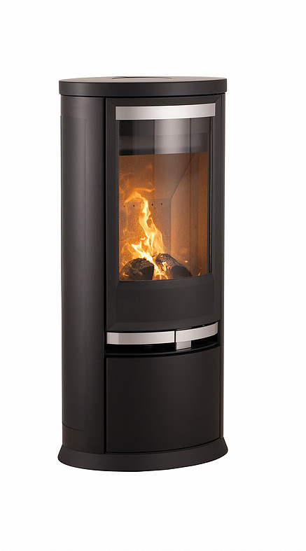 Heta Oura 200 7kW Woodburning Stove with Steel Sides