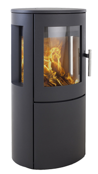 Heta Scan-Line 800 6kW Wood Burning Stove with Side Windows