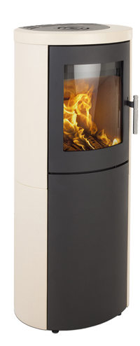 Heta Scan-Line 810 6kW Ceramic Finish Woodburning Stove
