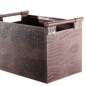 Brown Snakeskin Log Holder
